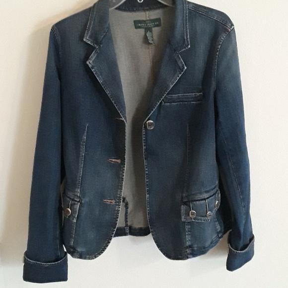 c02b7eac46 Lauren Ralph Lauren Jackets   Blazers - Ralph Lauren Women Blue Jean Jacket